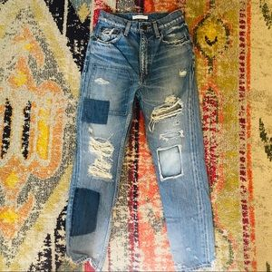 MOUSSY Distressed High Rise Jeans